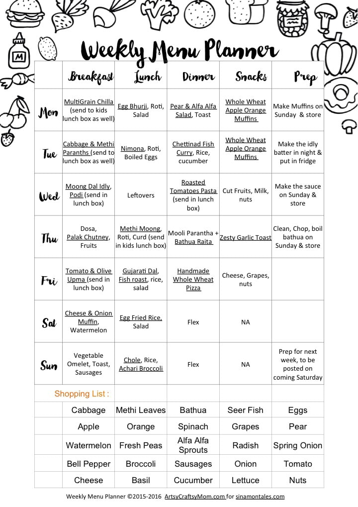 weekly menu   ww0116